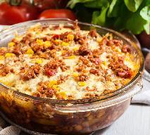Zapiekanka z mięsa mielonego i ziemniaków po meksykańsku