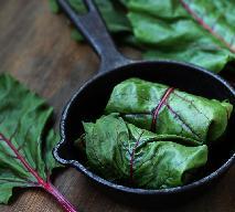 Gołąbki z liści botwinki z grzybowym nadzieniem - oryginalny przepis