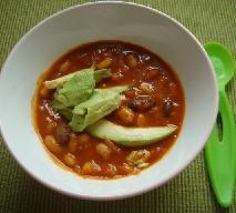 Zupa toskańska z kiełbasą i szpinakiem