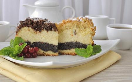 Ciasto serowo-makowe - dwa ciasta w jednym [WIDEO]