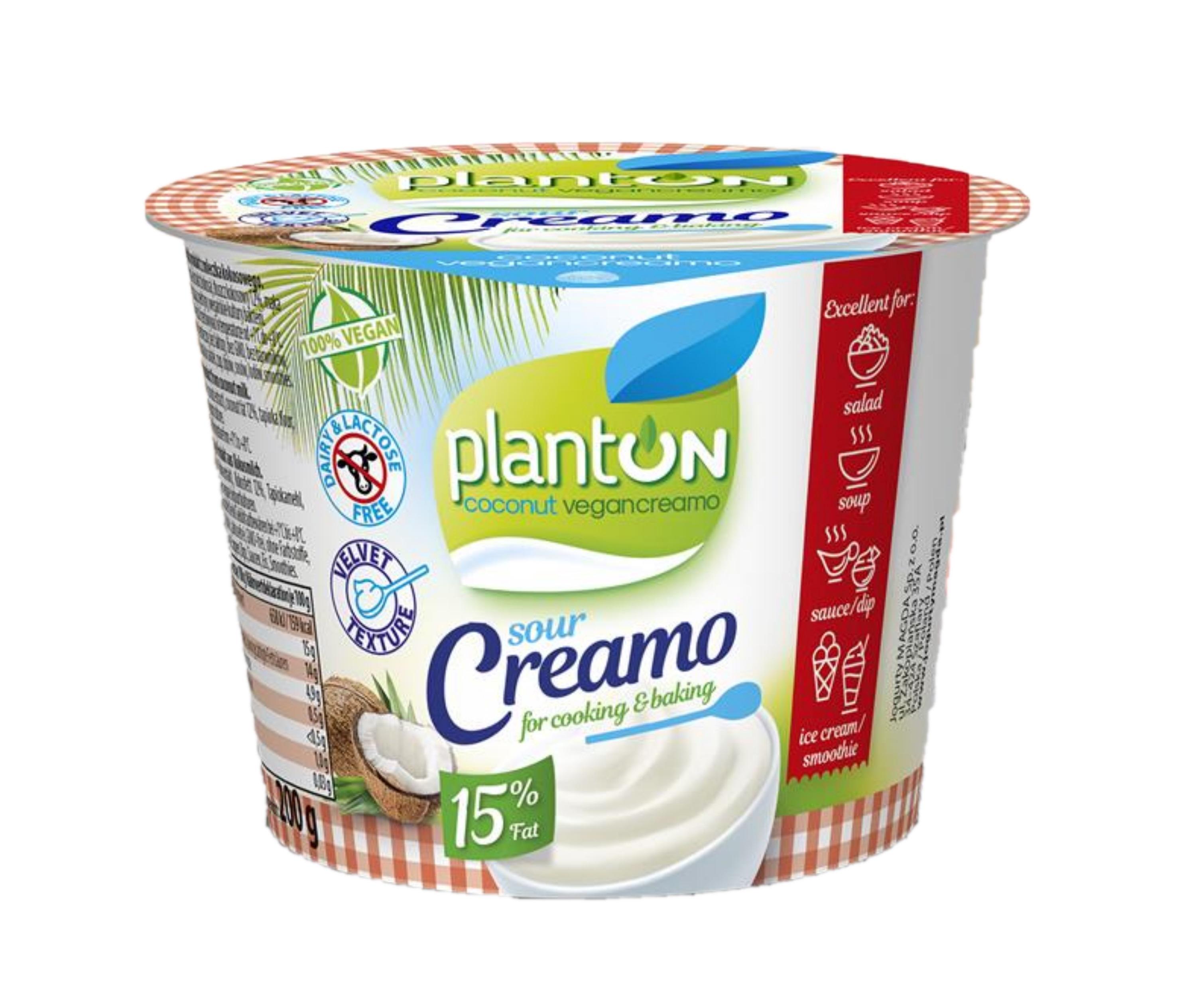 Wegańska śmietana Planton Sour Creamo (4,99 zł/ 200 g/ 1 opak.)